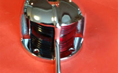 Chris Craft, Gar Wood bow light.  New chrome.