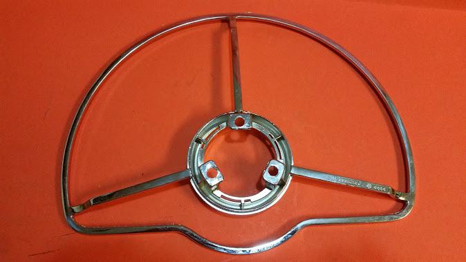 Deluxe Steering Wheel Horn Ring-New Chrome