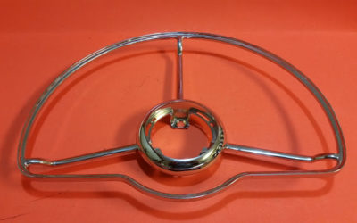 Deluxe Steering Wheel Horn Ring-New Chrome