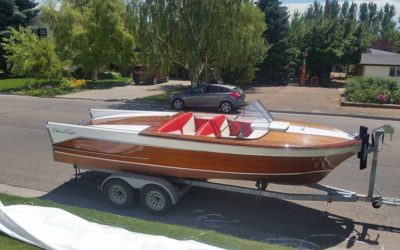Chris Craft  21 ft Capri, 1957. New 454 Motor, Chevy.  New interior, Custom fit trailer, ready to rock and roll